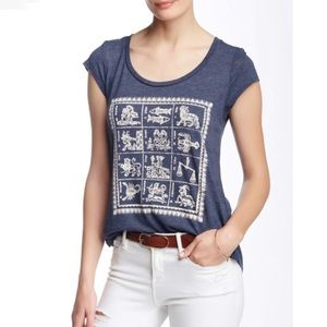 3 FOR $40 • Lucky Brand Zodiac Tee • Size Small